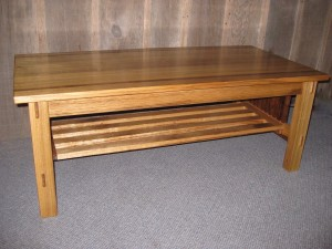 Craftsman Style Eucalyptus Coffee Table